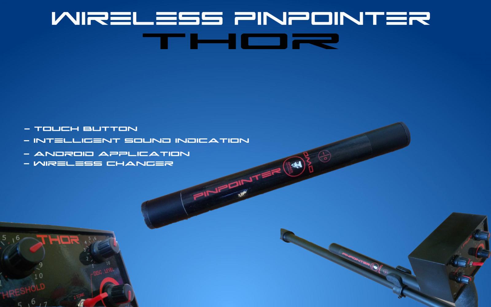 MD Pinpointer безжична връзка с металотърсач Thor