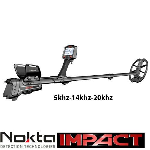 Nokta Impack работи на 5khz-14khz-20khz